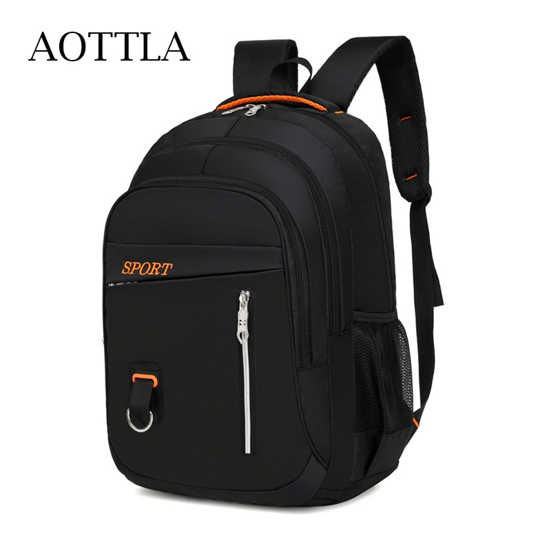 AOTTLA Backpack Male Leisure Oxford Men'S Backpacks New Zipper Rucksacks Laptop Travel Shoulder Bags Teenager School Backpack