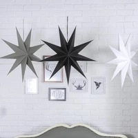 60cm 24inch paper star lanterns christmas ornaments white black grey star lantern christmas decorations for home craft