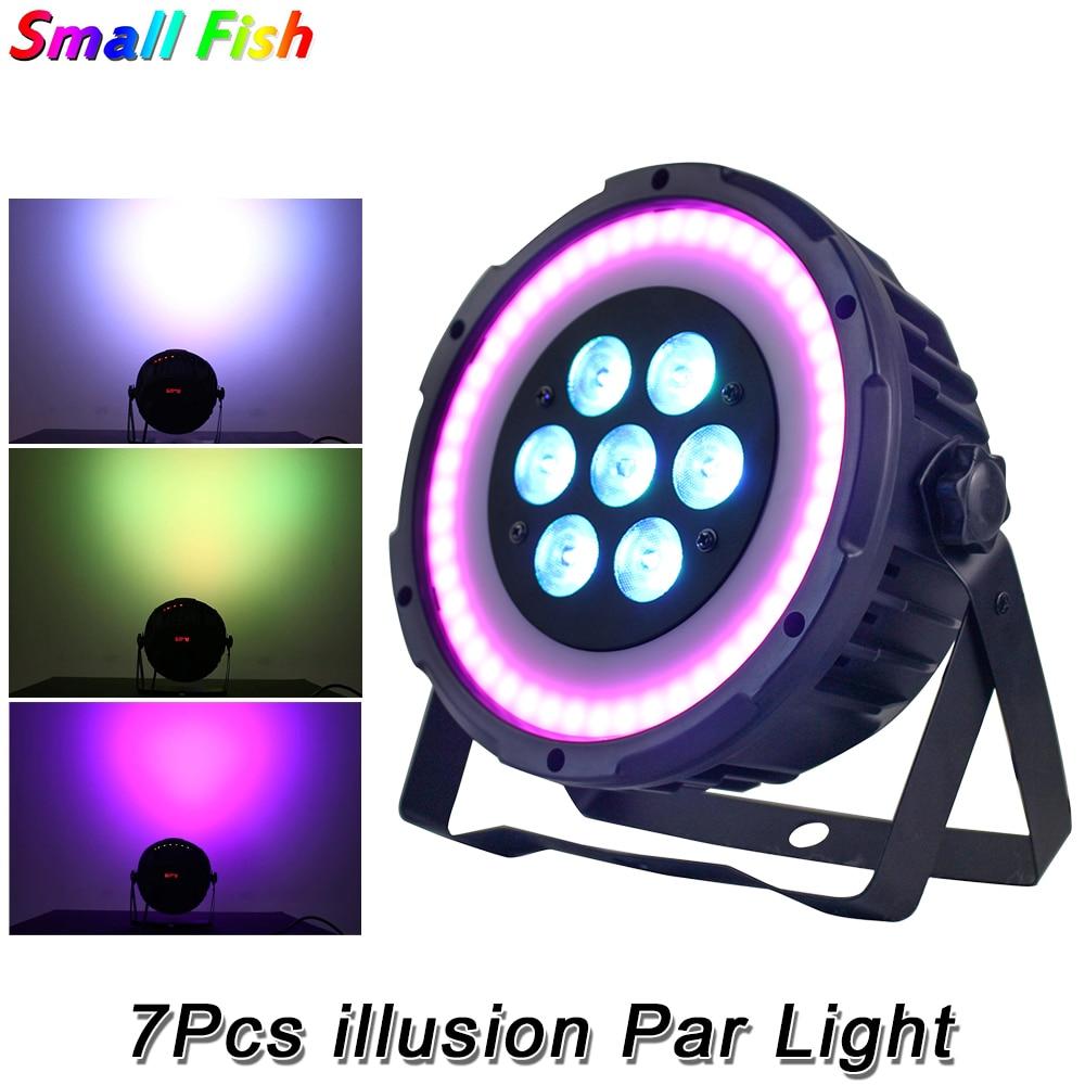 4Pcs/Lot LED Flat Par 7x10W RGBW 4IN1 Lighting 48x0.5W RGB 3IN1 SMD illusion Par Light DMX512 LED Stage DJ Disco Party Lighting