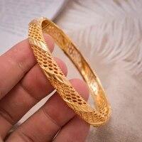 1pcslot delicate flower cuff bracelets bangles for women men gold color can open male female bangle bracelet fashion jewelry