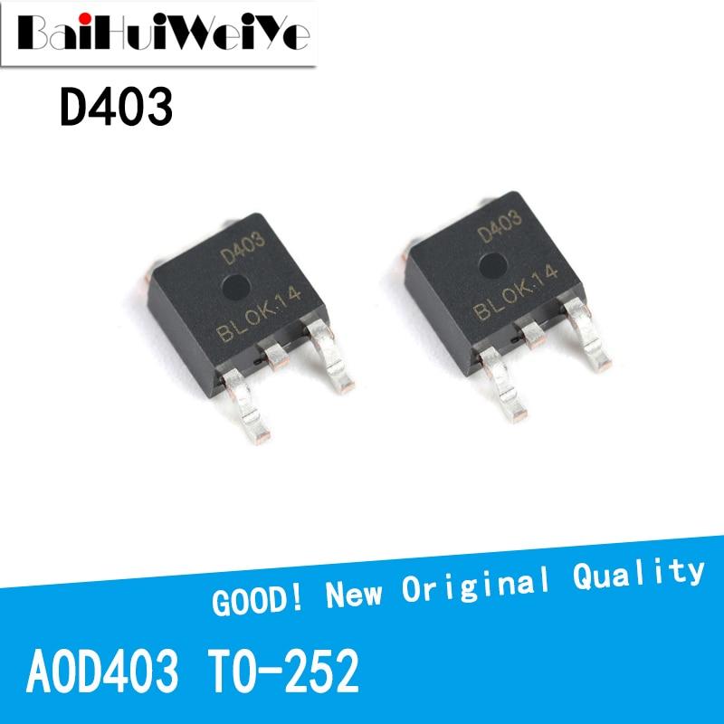 10PCS/LOT AOD403 D403 OD403 30V 85A 403 TO-252 TO252 MOS FET New and Original IC Chipset new original 30pcs lot 78m05 to252 7805 750ma