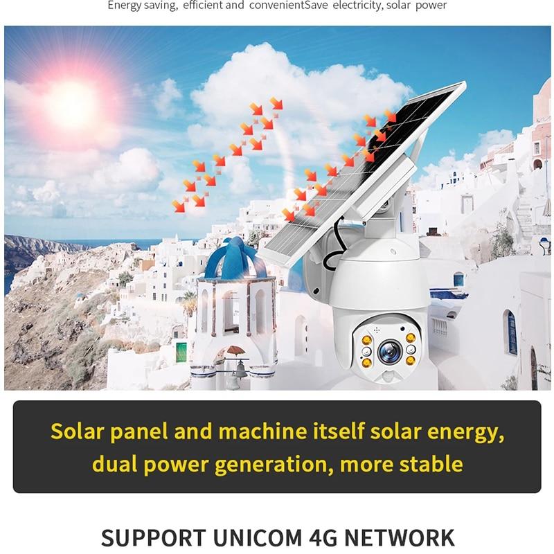 HONTUSEC 1080P HD 4G Low Power Solar Camera PTZ Night Vision Two Way Audio Solar Panel Outdoor Monitoring Solar Power IP Camera
