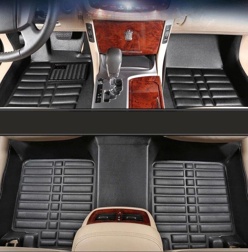 leather car floor mats carpet rug for toyota highlander 2011 2012 2013 2014 2015 2016 2017 2018 2019 accessories parts
