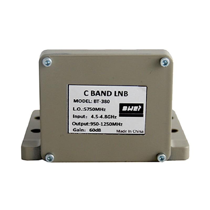 Fábrica c banda lnb para Proyecto C banda sintonizador de polarización única uso con alimentación polarizada única o alimentación polarizada dual