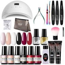 ROSALIND Nail Gel Manicure Set Lamp Gel Tools Kits For Nails Art UV Lamp Semi Permanent Nail Gel Pol