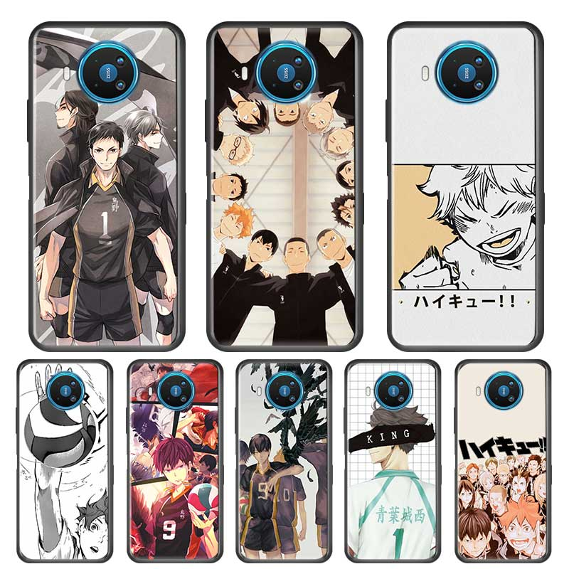 Dünne, Weiche Fall für Nokia 2,2 2,3 3,2 4,2 6,2 7,2 1,3 5,3 8,3 5G Telefon Silikon Abdeckung Shell fundas Anime Haikyuu