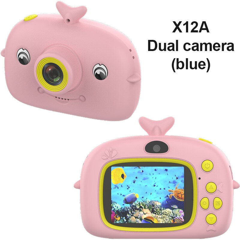 X12 Cute HD 1080P Digital Video Photo Children's 2000W Camera Toy Rechargeable Camera IPS Screen eye