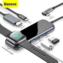 [Venta de liquidación] Baseus HUB tipo C con USB a HDMI USB 3,0 HUB adaptador (iWatch cargador inalámbrico soporte iWatch 1/2/3/4 5.2.1)