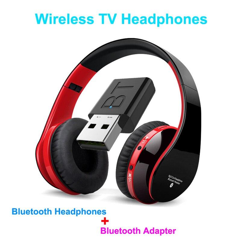 FLOVEME TV Bluetooth Kopfhörer HiFi bluetooth headset Tiefe Bass Drahtlose Kopfhörer mit Sender Stick Für TV Computer Telefon