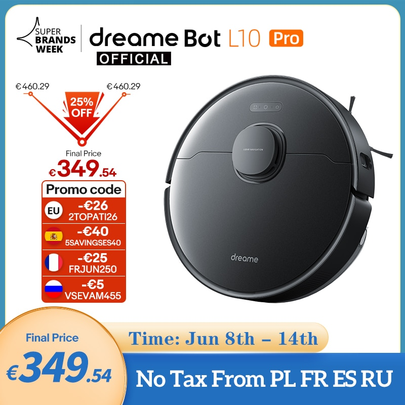 Dreame Bot L10 Pro Robot Vacuum Cleaner For Home Superb LiDAR Navigation, 4000Pa Suction ,150mins Auto Charge, 570ml Dust Tank