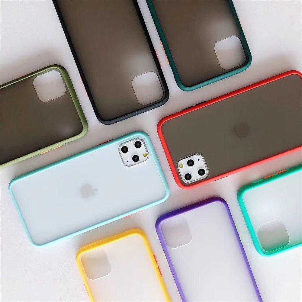 Funda protectora Ultra fina mate transparente para iphone 11 Pro Max 7 8 XR X 6 6S Plus XS Max, carcasa trasera a prueba de golpes