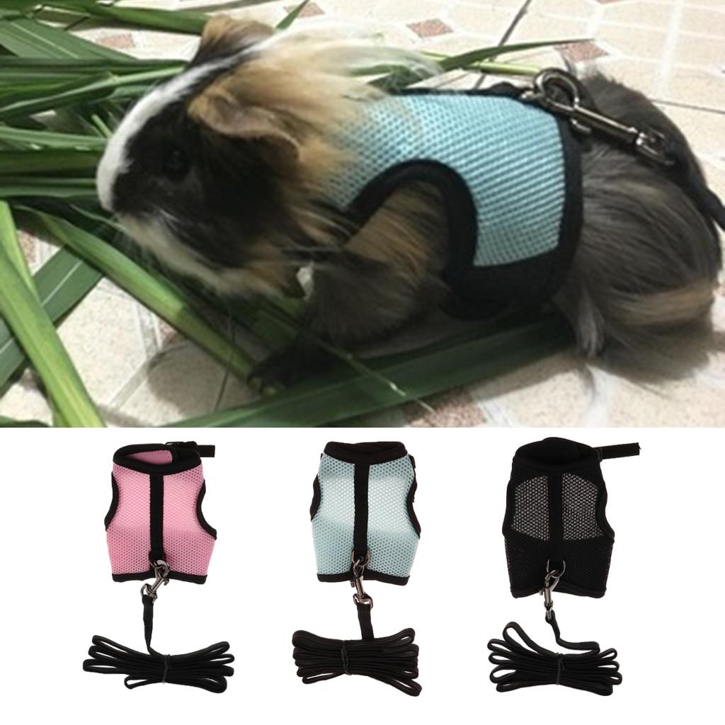 Conjunto de correa ajustable y malla respirable para mascota hurones conejos conejo arnés