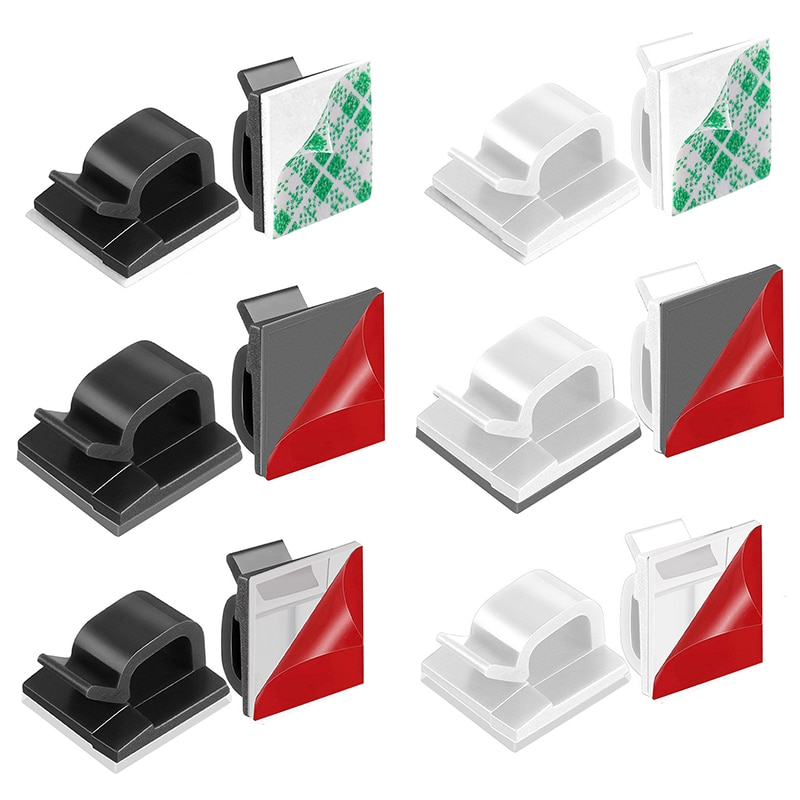 10 unids/bolsa auto-adhesivo no-Marca Cable de escritorio de disposición de almacenamiento de...
