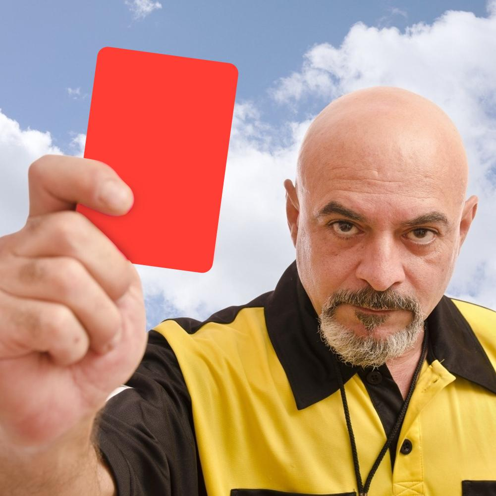 Football match referee red and yellow cards professional record football match referee tool football match accessories
