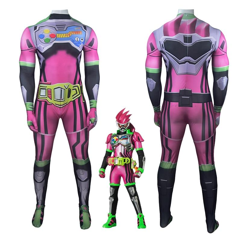 TV japonesa serie Kamen Rider Ex-Ayuda Cosplay Zentai traje de adultos niños una pieza de Halloween Disfraces de Carnaval mono