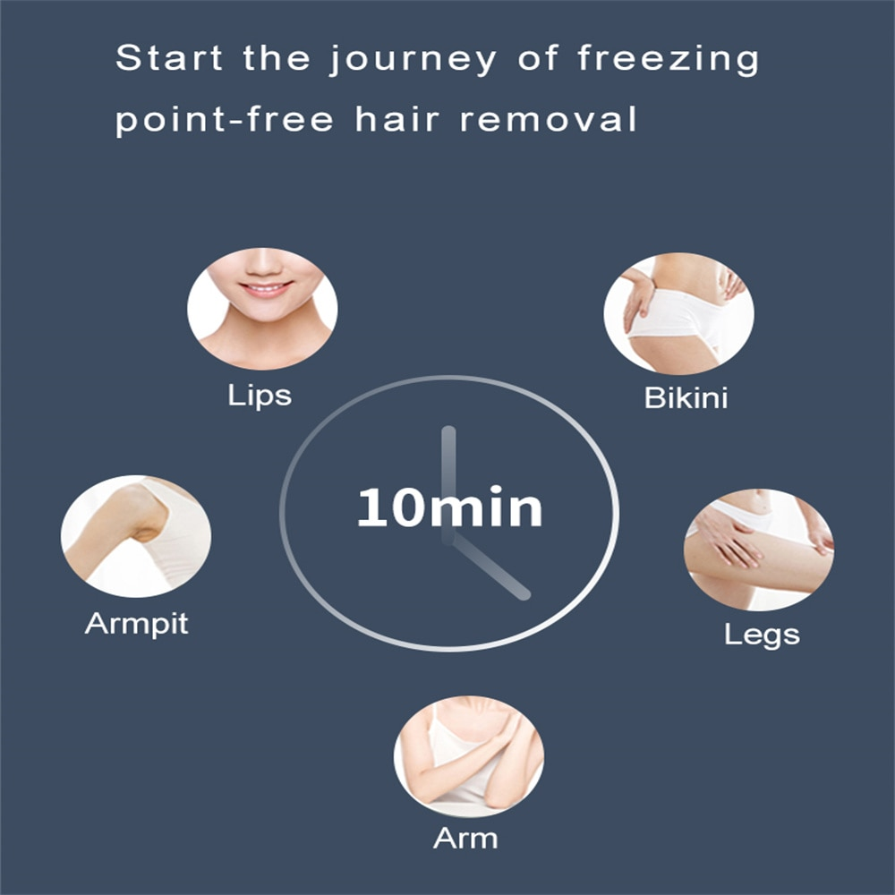 The New Freezing Point Hair Removal Device IPL Laser Hair Smooth Skin for Ladies enlarge