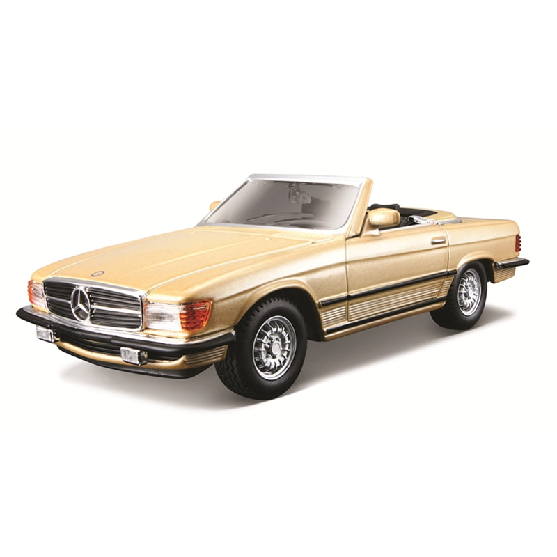 Bburago 1:32 Scale Mercedes-Benz 450 SL (1977)  Alloy Luxury Vehicle Diecast Cars Model Toy Collection Gift alloy model gift 1 50 scale scania a90 city wide transit bus vehicle diecast toy model for collection decoration