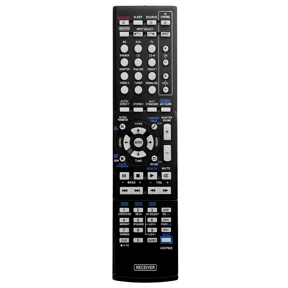 Substituição de controle remoto plástico axd7622 smart tv controlador remoto para pioneer VSX-521 axd7660 VSX-422-K axd7662 venda quente