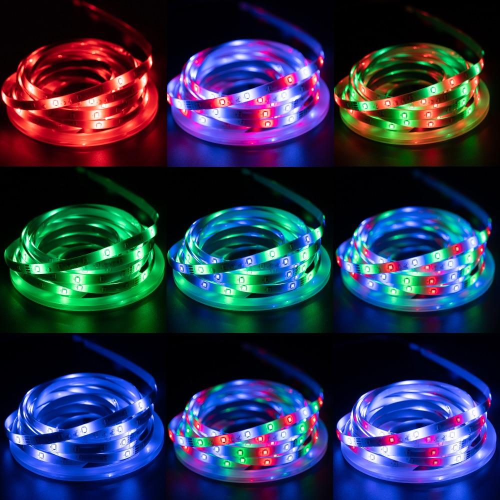 LED Strip Lights RGB 2835 Bluetooth Control USB Flexible Lamp 5V Tape Ribbon Diode For Festival Room Luces Computer TV Desk Luz enlarge