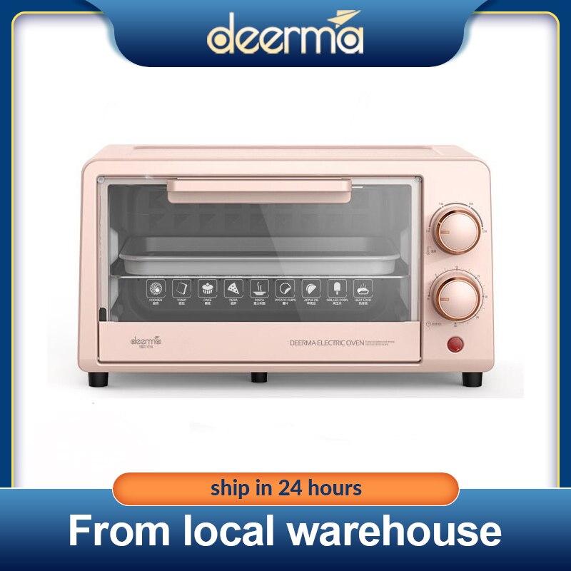 Deerma فرن كهربائي EO101S مقلاة فرن متعددة الوظائف آلة الخبز المنزلية جهاز صُنع فطائر البيتزا الفاكهة الشواء محمصة