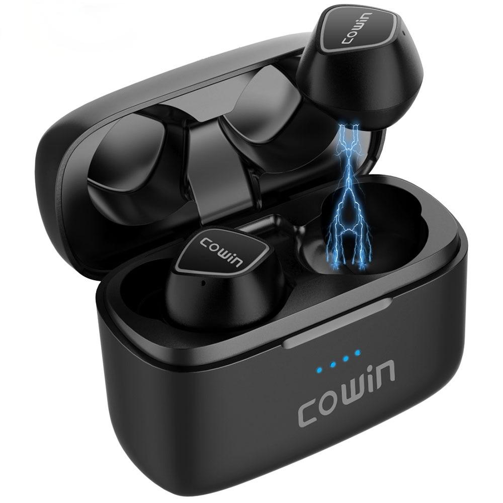 COWIN KY02[Upgraded] TWS True Wireless Earphones Bluetooth Sport Earbuds with Microphone, 36H Playtime, IPX5 Waterproof