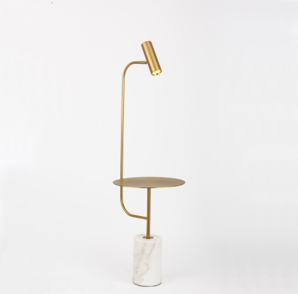 Moderno hogar conveniente Metal Universal cabeza mármol Base lámpara de pie con...