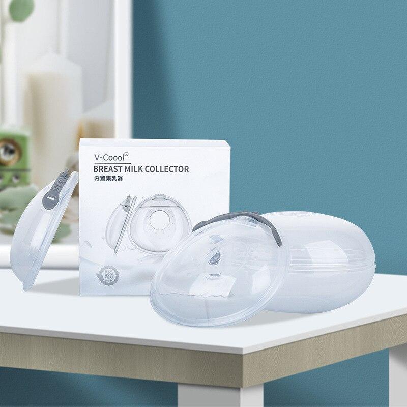 V-coool-Protector de lactancia materna de silicona lavable en el interior, protector antiderrames,...