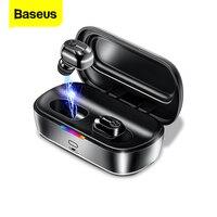 Baseus W01 TWS Bluetooth 5.0 True Wireless Earphone Headphone Mini Cordless Earbuds With Mic Handsfree Headset For Xiaomi iPhone