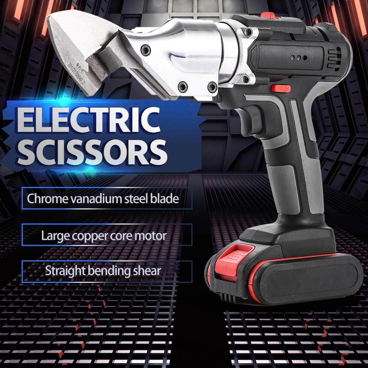26v recarregável elétrica tesouras de poda tesouras jardim podador secateur ramo cortador ferramenta de corte com 2x bateria