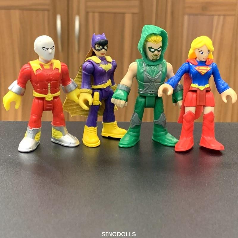 4 шт. Fisher DC SUPER GIRL HERO & Green Arrow Фигурки игрушки подарок