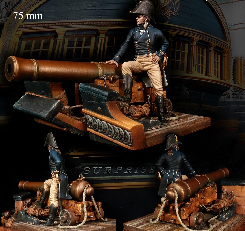 Unassambled 1/24 75mm antigo oficial com cena resina figura miniatura modelo kits sem pintura