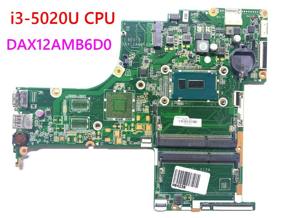 HP PAVILION 17-G 17-G015DX Laptop motherboard 809322-809322-601 DAX12AMB6D0 001 i3-5020U CPU