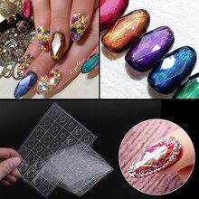 1 feuille 3D gemme décoration Nail Art autocollant losange décalcomanie Transparent vernis adhésif curseur Nail Art décoration outil bricolage
