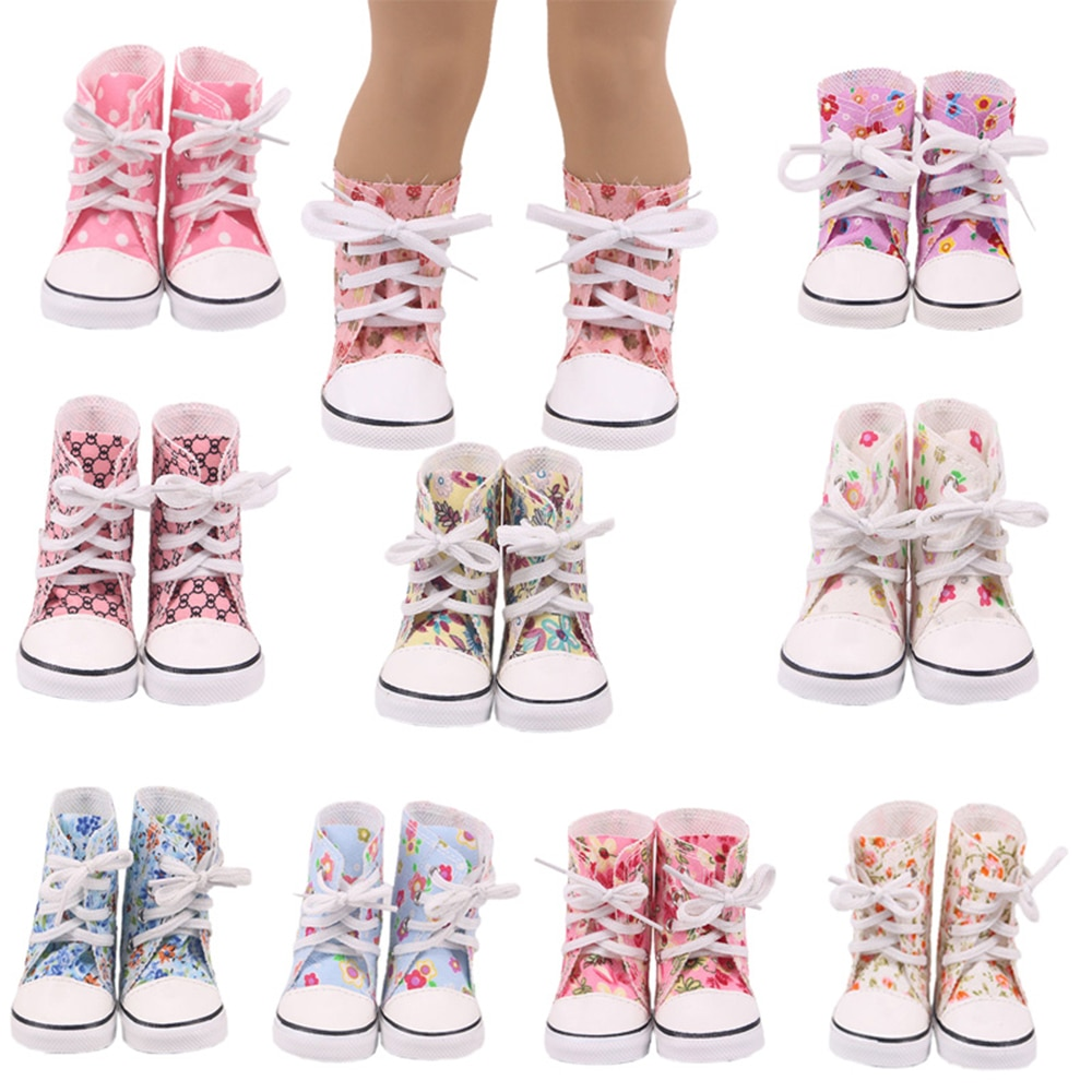 7 cm Doll Shoes For American 18 Inch Girl Toys 43 cm Born Baby Reborn Doll Items Our Generation Doll Clothes недорого