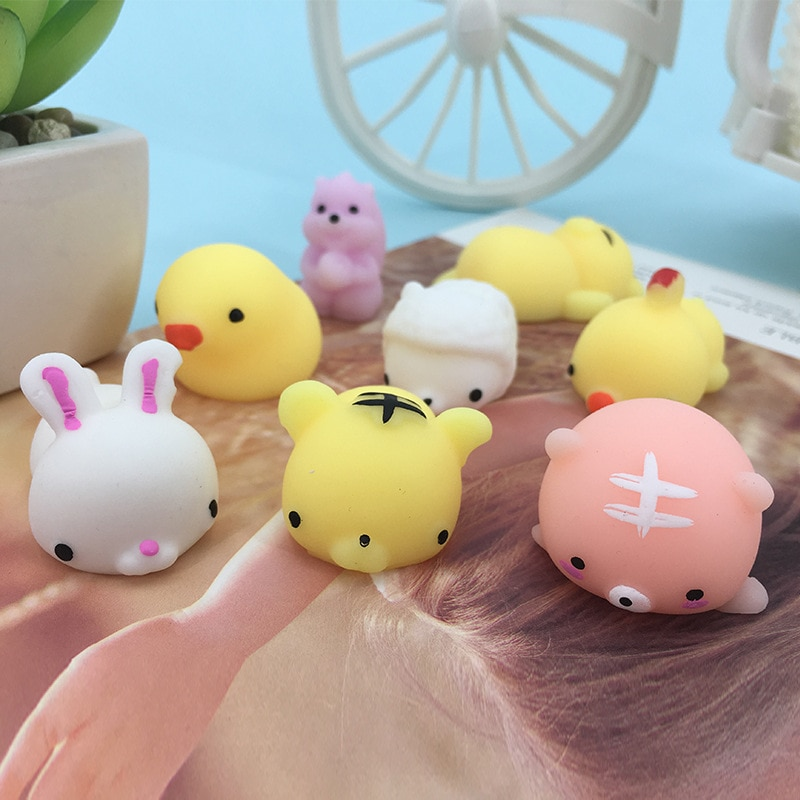 Cute Kawaii Squeeze Toys Fidget Toys Pack Cute Animals Squishy Anti-stress Toy Antistress Funny Stress Relief Gifts enlarge