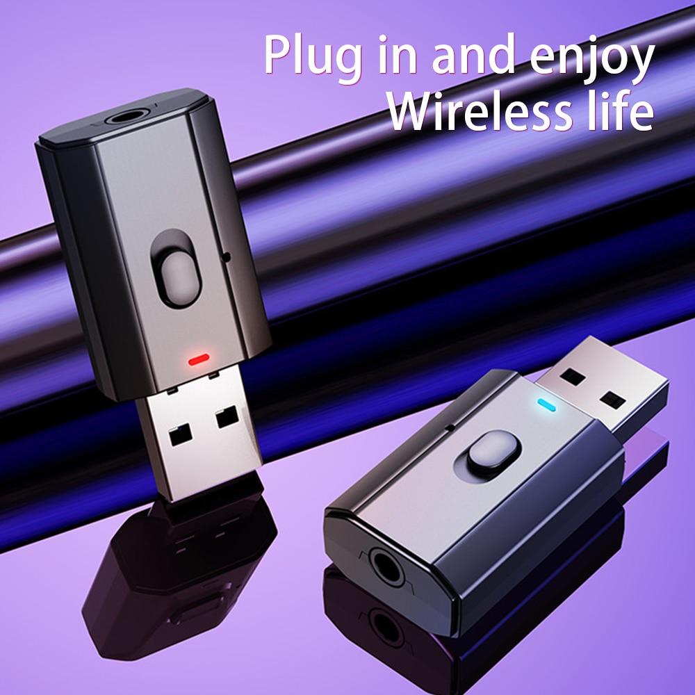 Adaptador Bluetooth 5,0 para PC, TV, coche, Adaptador inalámbrico USB, Audio de...