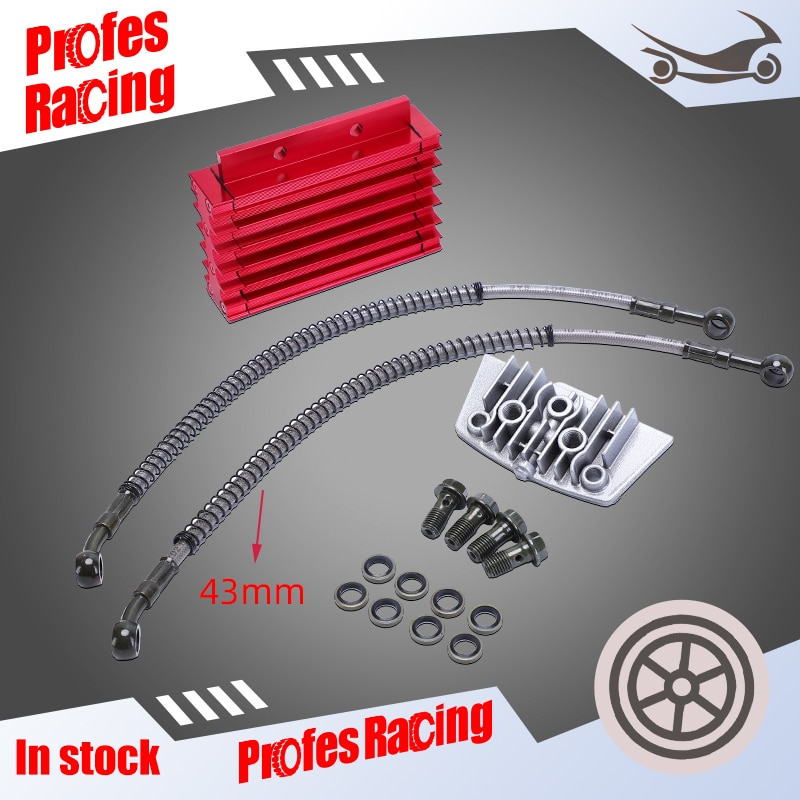 Motorcycle CNC Oil Cooler Kit Radiator Aluminium Adapter125cc-140cc Engine Cylinder Cover  For ATV Pit Dirt 50CC-110CC