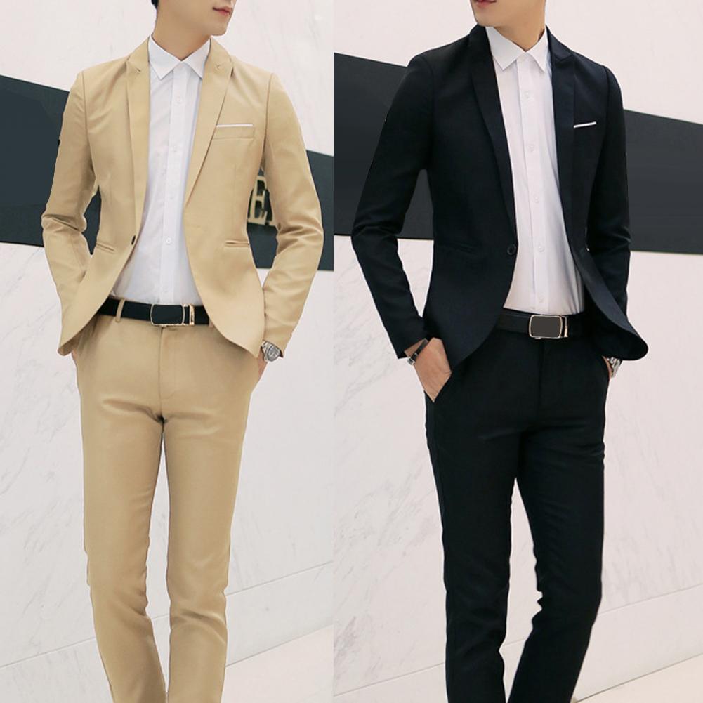 Men Wedding Suit set 2pcs Male Blazers Slim Fits Suit For Men Costume Business Formal traje hombre Classic costume homme
