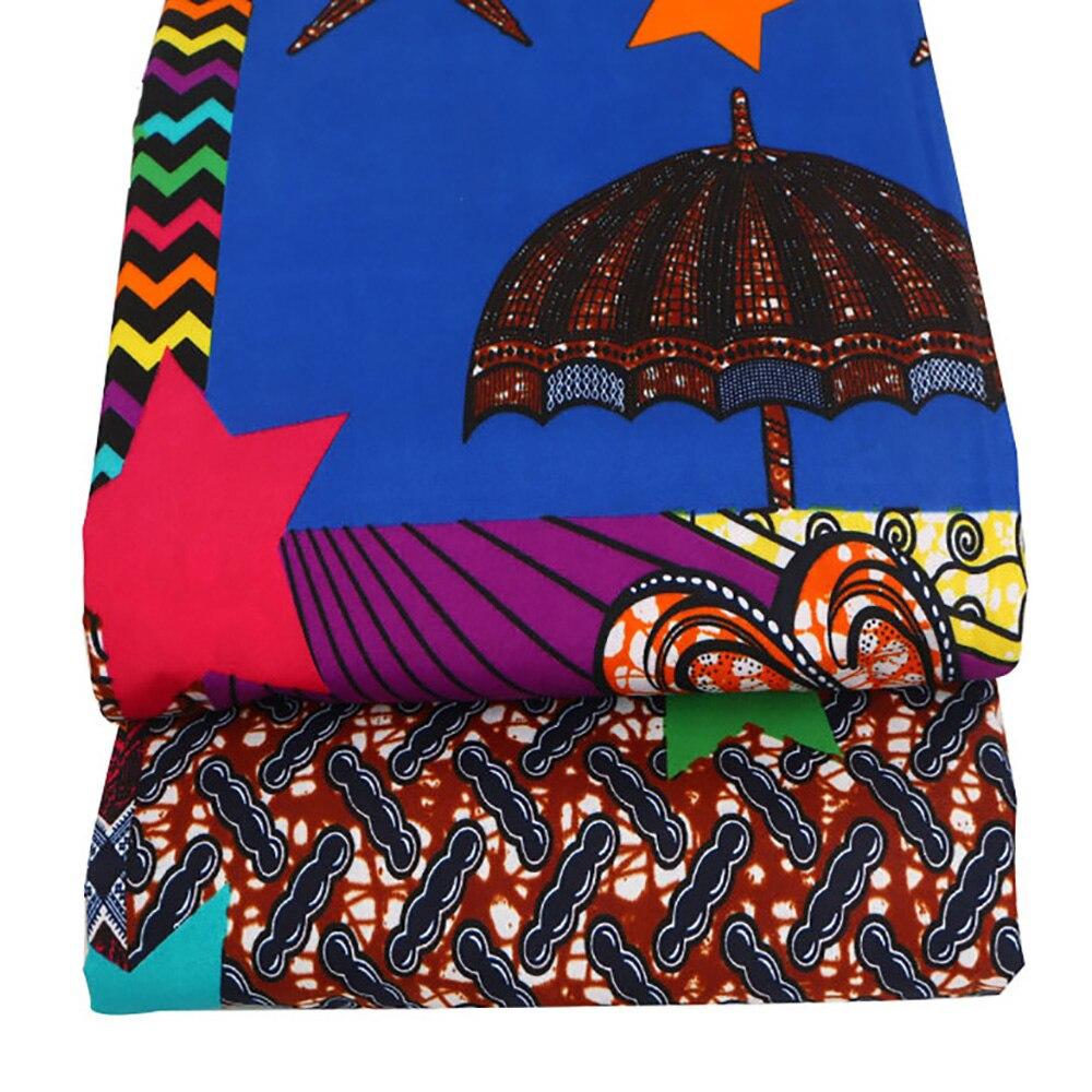 1 yarda estrella cera Africana impresa 100% poliéster cera tela al por mayor de alta calidad Ankara cera Africana impresión tela