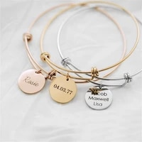 tangula fashion customized 1 4 name stainless steel adjustable bracelet women mens family memorial best jewelry gift
