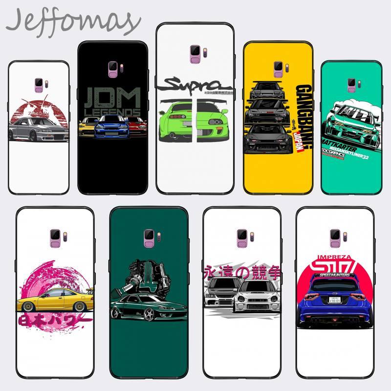 Mode dérive voitures Auto JDM personnalisé coque de téléphone souple pour Samsung S6 S7 bord S8 S9 S10 e plus A10 A50 A70 note8 J7 2017