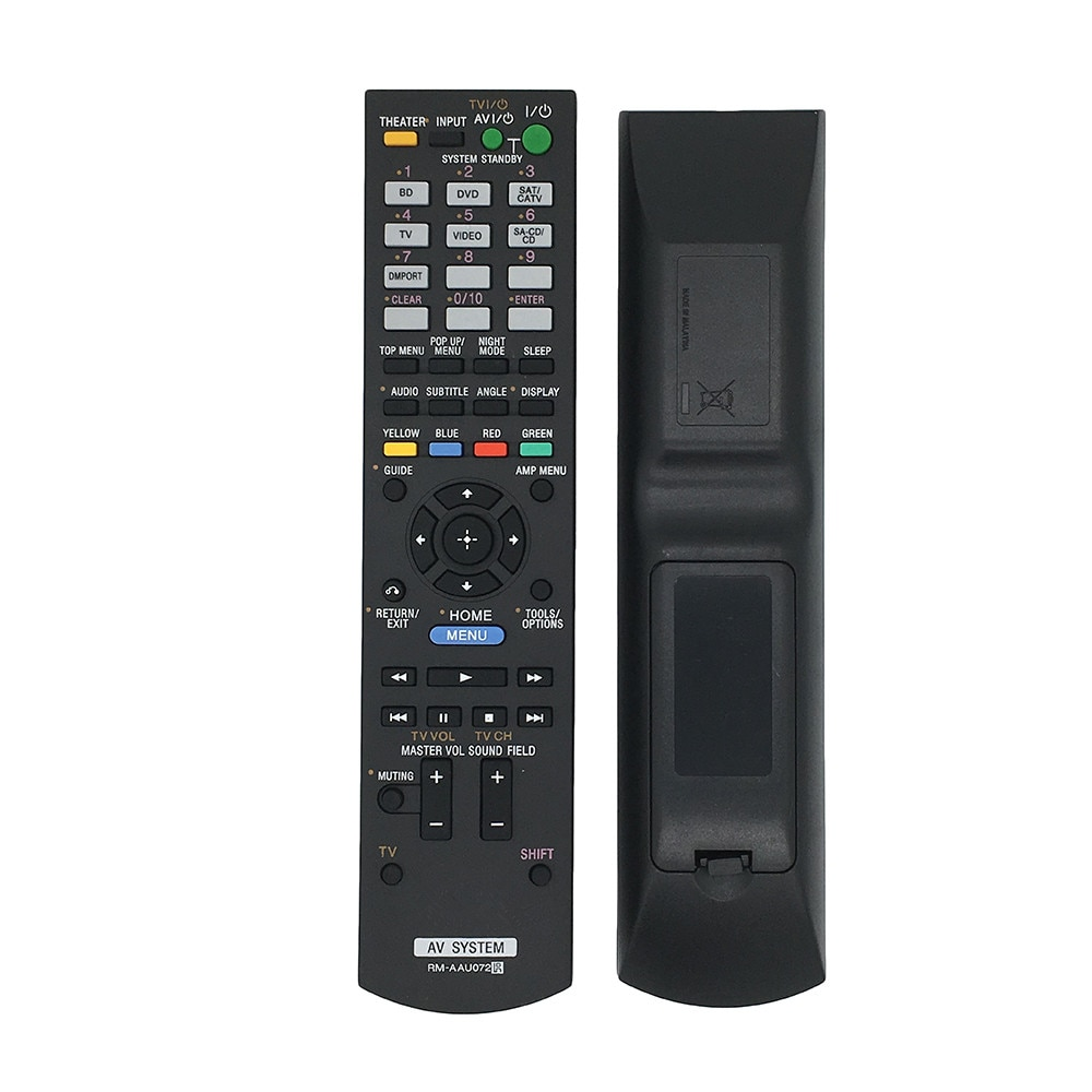 New Remote Control For SONY RM-AAU073 RM-AAU071 RM-AAU072 1-487-612-11RM-AAU074  Receiver Home Theater