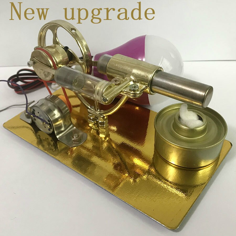 Mini Stirling engine External combustion engine Micro-generator birthday present Steam engine model Science and education toys stirling engine generator engine micro engine model steam engine hobby birthday gift