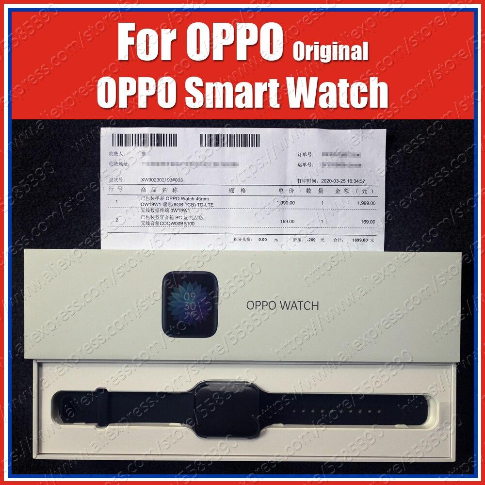 5ATM 46mm 1.91 אינץ AMOLED 2020 מקורי OPPO חכם שעון 1GB 8GB Snapdragon 2500 Bluetooth WiFi ספורט בריאות לב קצב שינה
