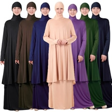 Deux-pièces tenue de prière islamique musulman femmes robe de prière ensemble islamique 2 pièces longue Khimar Burqa jupe Jilbab ensemble Ramadan dubaï nouveau