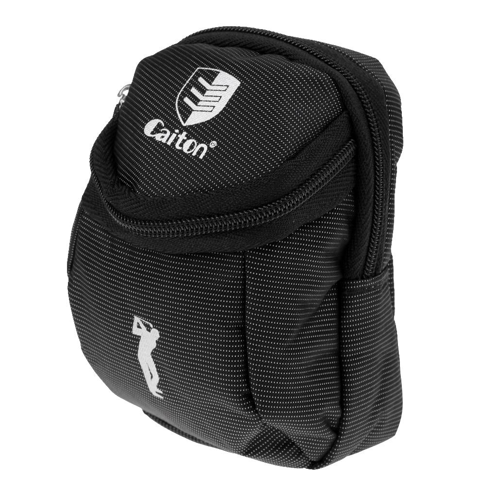 Сумка для мячей для гольфа-тройники на молнии, инструмент Divot, аксессуары для маркера мяча, держатель
