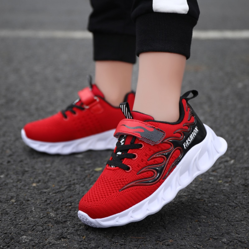 Autumn Fashion Kids Sneakers for Boys Air Mesh Breathable Casual Running Children Shoes Lac-up Boys Shoes Chaussure Enfant
