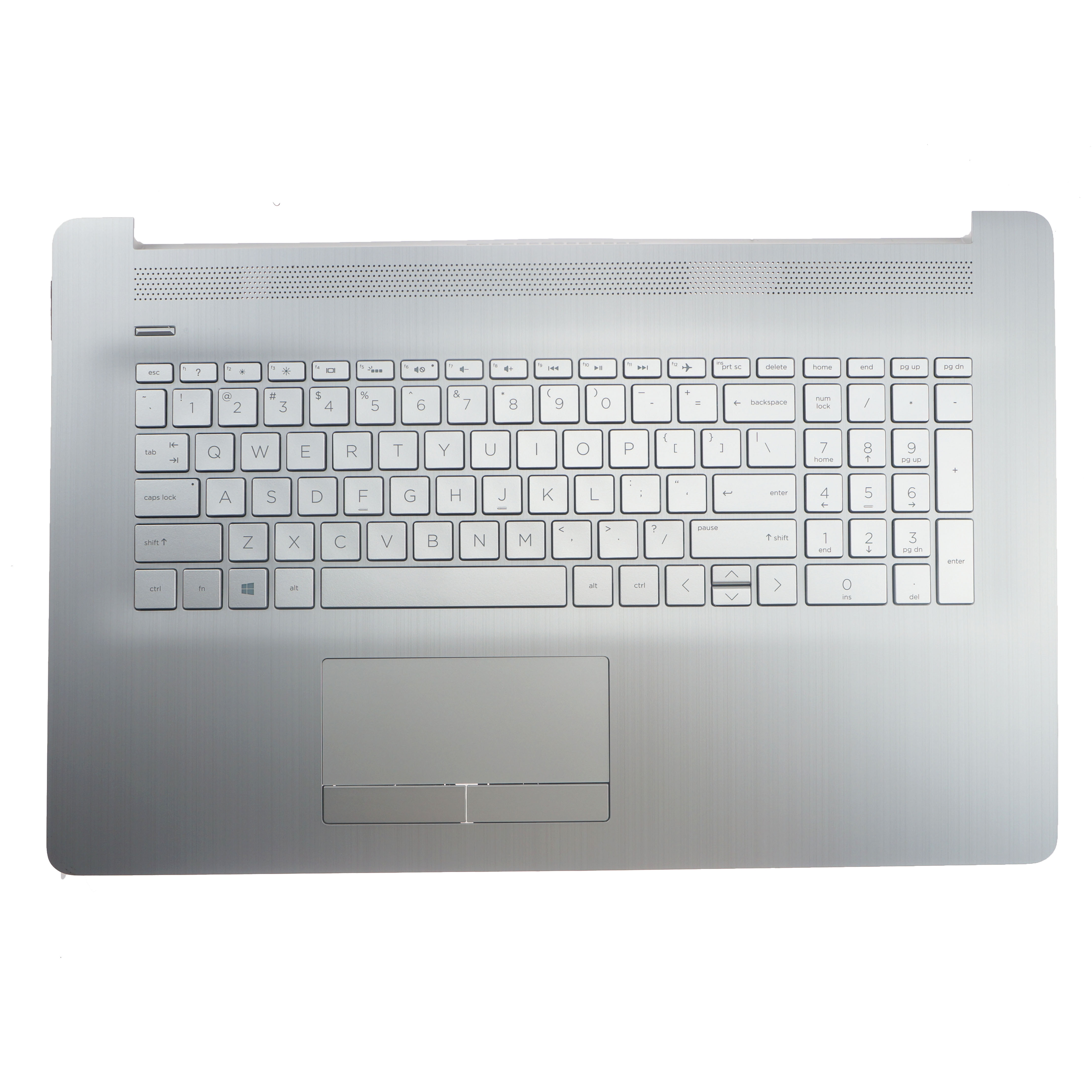 Новый оригинальный Упор для рук с США подсветкой Клавиатура для ноутбука HP Pavilion 17-по 17-CA верхняя крышка 6070B1308113 L92787-001 серебро
