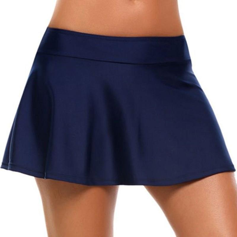 Womens Leisure Swim Mini Skirt Plus Size Swimwear Tanga Bikini Top Bottom Beachwear Cover Up Sexy Swimsuit Tankini
