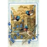 Diamant Peinture Pleine Rond Carre Bluebird fleur carte Mosaique 5d BRICOLAGE Diamant Peinture Animal Broderie Point De Croix Decor A La Maison